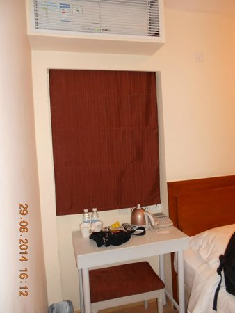 Ole London Hotel : 2 botol air mineral dan ketel