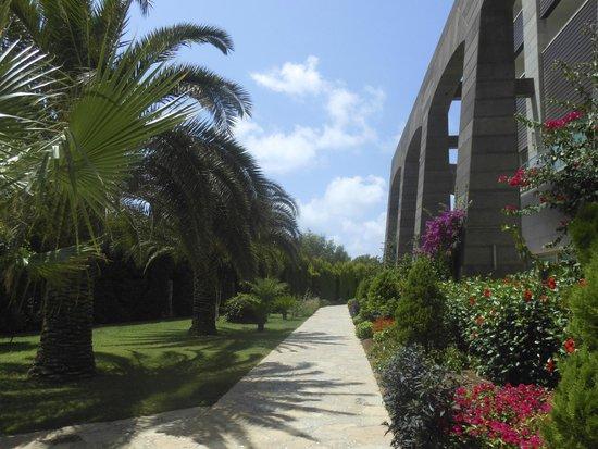 Melas Lara Hotel : accès piscine plage