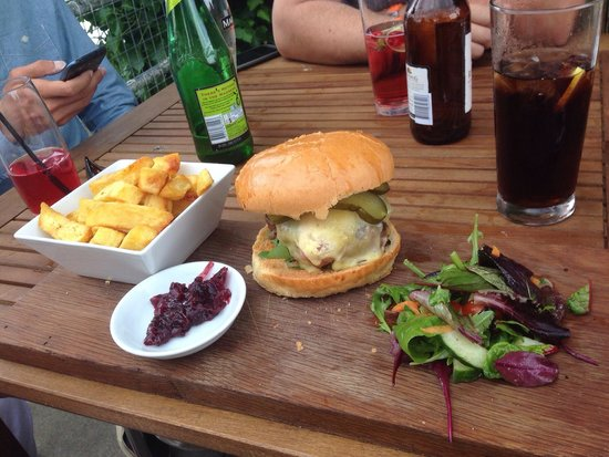 The George: Cheese burger with tasty relish.