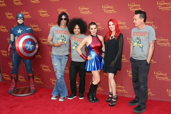 Captain America joins the MARVEL Super Heroes at Madame Tussauds Hollywood!