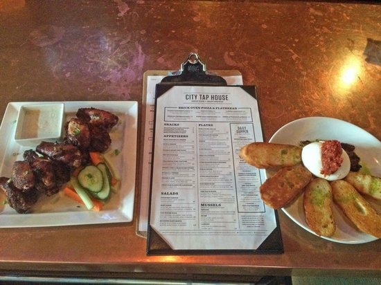 City Tap House DC: Burrata Cheese and Spice Wings