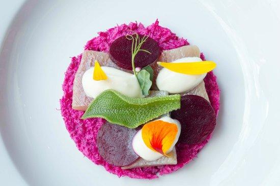 Maxime: Haring met bietjes / Herring with salad of beetroot