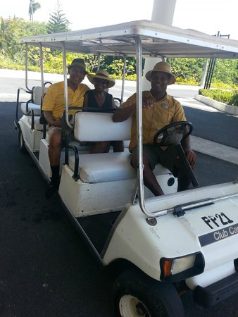 The Reserve at Paradisus Palma Real: Riding in carts from location to location