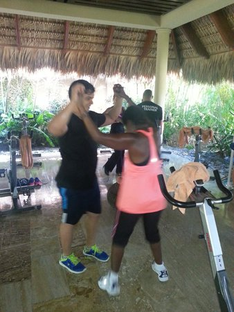 The Reserve at Paradisus Palma Real: Gail at a fittness class