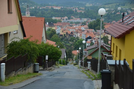 Penzion Panorama: the hill to the pension