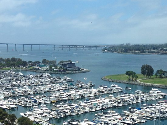 Manchester Grand Hyatt San Diego: View from our room. Glorious to wake up to every morning.