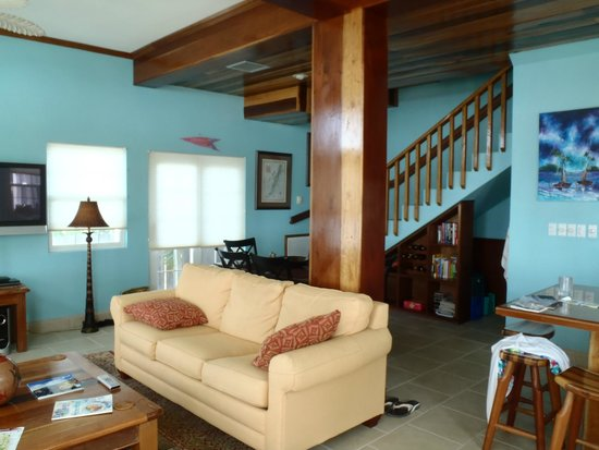 The Landings at Tres Cocos: Back of the house, staircase going up to the bedrooms