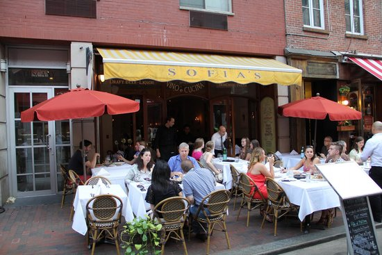 Sofia's of Little Italy: Outdoor seating at Sophia's Little Italy, July 12, 2014