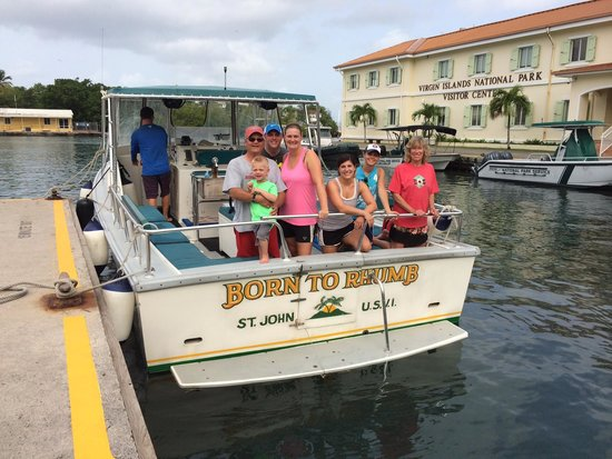 Born to Rhumb Charters: Our whole party