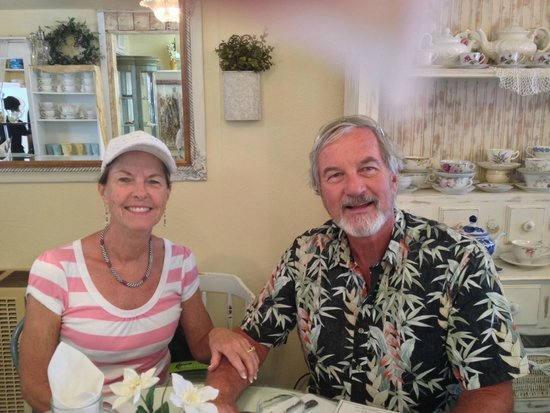 The Cottage Tea House: All smiles while enjoying the ambiance