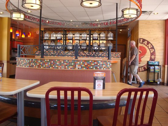 Popeyes Louisiana Kitchen Inside Dining Newly Remodeled Room