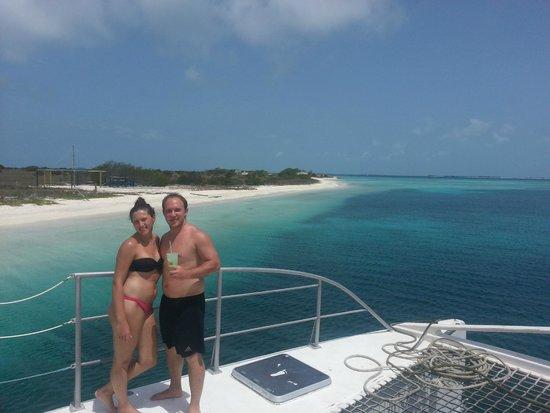 Posada Acuarela: yendo en catamaran a alguna de las 360 islas.