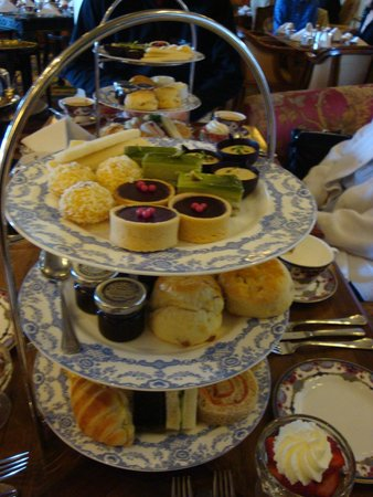 Empress Hotel National Historic Site of Canada: sandwiches, desserts, scones, strawberries and cream