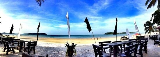 Cenang Beach: View from Sandy Beach Resort