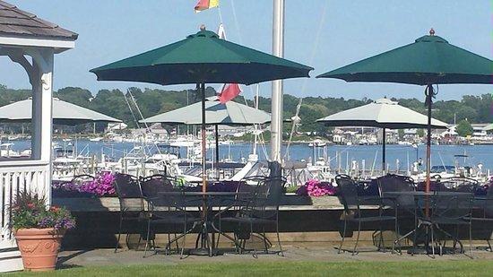 Inn at Harbor Hill Marina: view of marina from lawn of main house