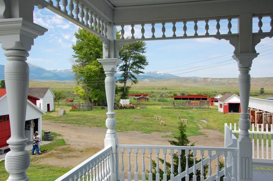Grant-Kohrs Ranch - National Historic Site : From the house looking at ranch