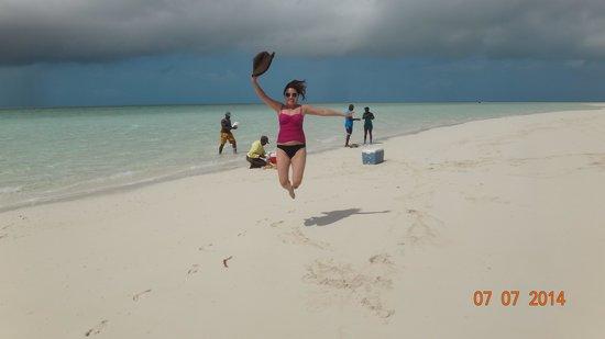 Coastline Adventures Exuma: me in the musha cay sand bar