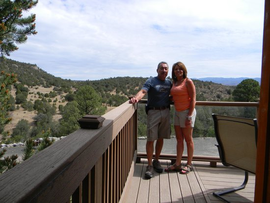 Georgetown Cabins Resort: View from Lindauer cabin deck