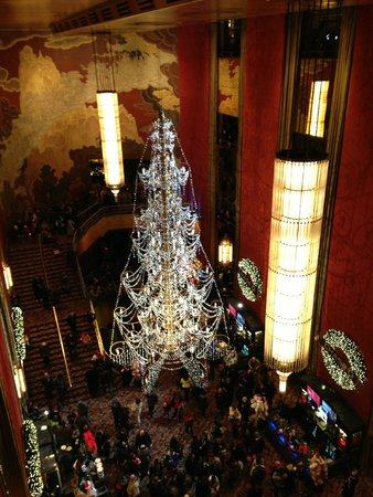 Radio City Music Hall: Hall visto do último andar