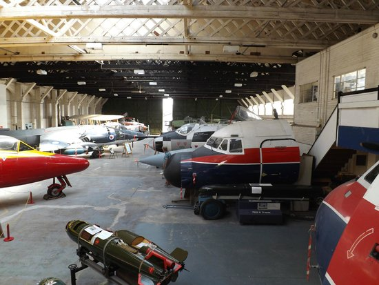 Boscombe Down Aviation Collection: General view of main hanger superb Belfast roof