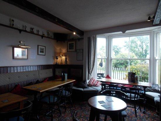 The Wheatsheaf in Wensleydale: Wheatsheaf bar - towards front window