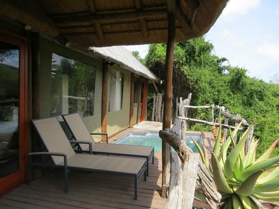 Shamwari Game Reserve Lodges: Private Deck and Pool