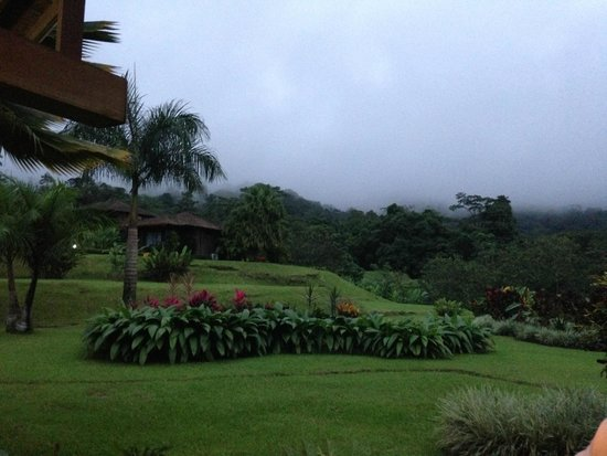 Hotel Lomas del Volcan: View from the back deck of the restaurant (which is open air).