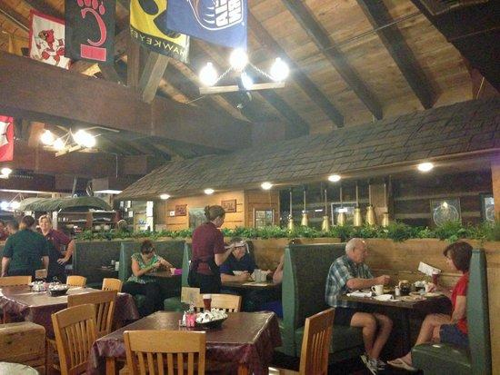 Log Cabin Pancake House: inside