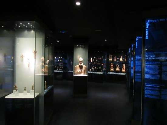 Musée d'art cycladique : View of the Cypriot Collection