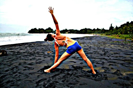 Kaya's Place: Yoga on the black sand beach