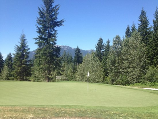Fairmont Chateau Whistler Golf Club: I wanted this ace so bad!!   Just over a foot left!