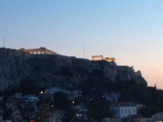 Electra Palace Athens: View from rooftop restaurant