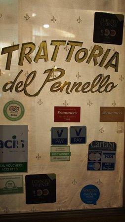 Ristorante il Pennello: Front door- it's right by Dante's house