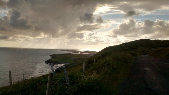 View from Upper Sky Road of the Lower Sky Road July 2014
