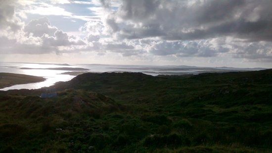 View from Upper Sky Road of islands off Ireland's western coast near Clifden July 2014