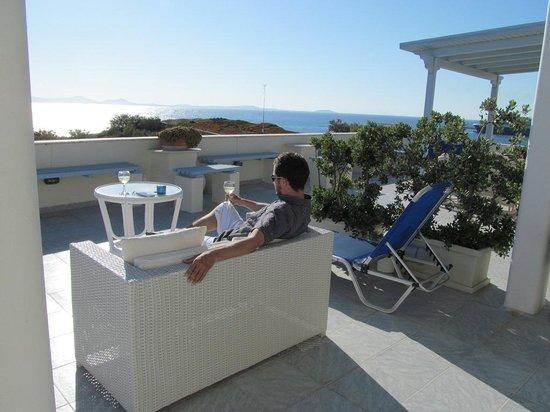Hotel Kymata: Terrasse