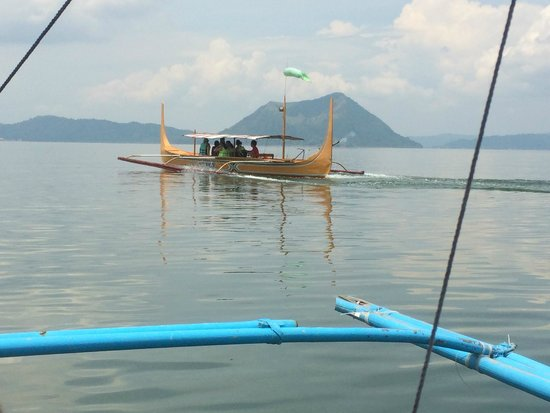 Taal Volcano: Boat ride over.  6-7 per boat.  Lifejackets included.
