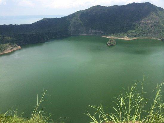 Taal Volcano: The lake inside the caldera.