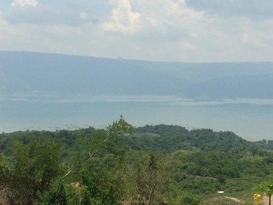 Taal Volcano: View along the way to the top.