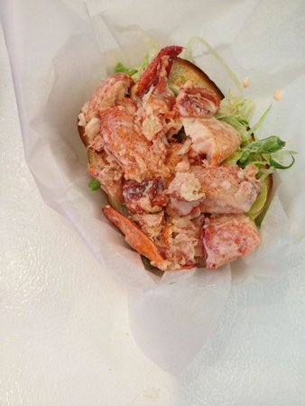 Jerry's Seafood & Dairy Freeze: Our delicious lobster roll