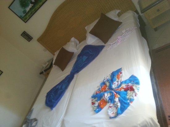 Green Palm : decoration chambre fai par la femme de chambre