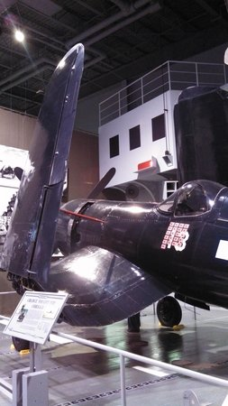 EAA AirVenture Museum: Corsair- note the wing