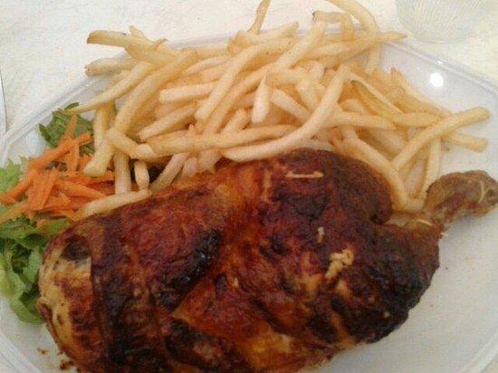 la paillote : le demi poulet frites