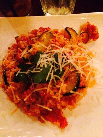 E Tutto Qua: Risotto with Italian sausage and zucchini
