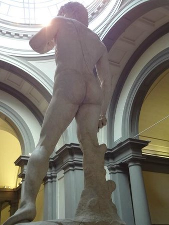 Accademia di Belle Arti (Galleria dell'Accademia): The front of Statue of David - Look up why it is the front