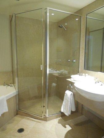 Crowne Plaza Surfers Paradise: Lovely sized corner shower :)