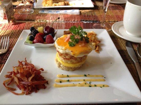 "Historic Davy House B&B Inn: Historic Davy House's ""breakfast sandwich"""