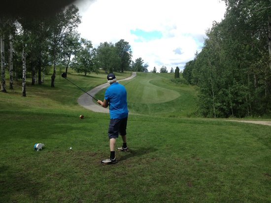 Cochrane, Canada: LGC 7th Hole Par 4 Tee View