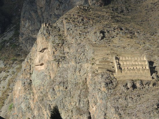 Archaeological Park Ollantaytambo: The King with storehouse on right