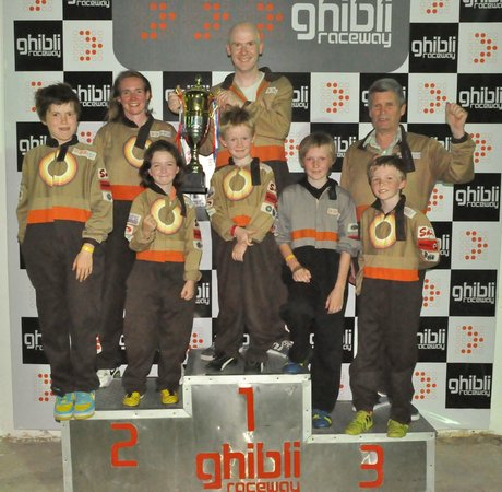 Ghibli Raceway : Everyone on the podium, kids loved it (so did the adults)
